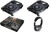 2x Pioneer CDJ-1000MK3 + 1x DJM-800 MIXER DJ PACKAGE ,  Yamaha Motif Xf