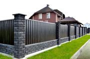 Построим забор из кирпича или блока